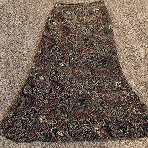 Harold's silk skirt